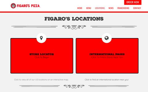 Screenshot of Locations Page figaros.com - Locations - Figaro's Pizza - captured Sept. 23, 2018