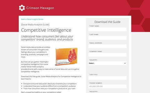 Screenshot of Landing Page crimsonhexagon.com - Social Media Analytics Guide for Competitive Intelligence - captured Sept. 11, 2017