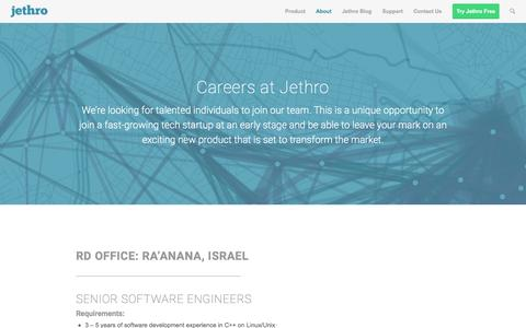 Screenshot of Jobs Page jethrodata.com - Jobs | Jethro Data - captured Dec. 4, 2015