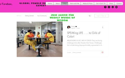 Screenshot of Blog janiceferebee.com - JaniceFerebee | Blog - captured Oct. 10, 2018