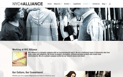 Screenshot of Jobs Page nycalliance.com - Careers | NYC Alliance - captured Jan. 11, 2016