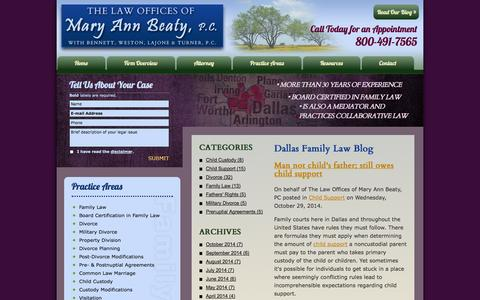 Screenshot of Blog maryannbeaty.com - Dallas Family Law Blog | The Law Offices of Mary Ann Beaty, PC - captured Nov. 5, 2014