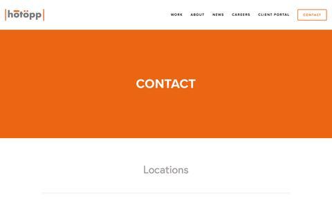 Screenshot of Contact Page hotopp.com - CONTACT — Hotopp - captured Nov. 14, 2016