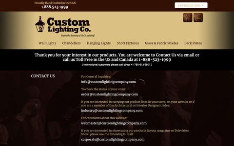 Screenshot of Contact Page customlightingfixtures.com - Custom Lighting Company - Contact Us - captured Sept. 30, 2018
