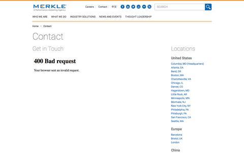 Contact | Merkle