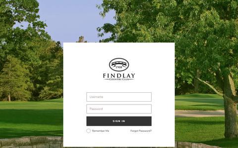 Screenshot of Login Page findlaycc.com - Login - Findlay Country Club - captured Oct. 13, 2017