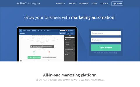 Screenshot of Home Page activecampaign.com - Email Marketing - Marketing Automation - Small Business CRM - captured Oct. 1, 2015