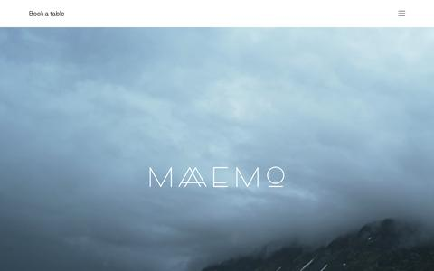 Screenshot of Home Page maaemo.no - Maaemo Restaurant – Maaemo - captured Aug. 2, 2015