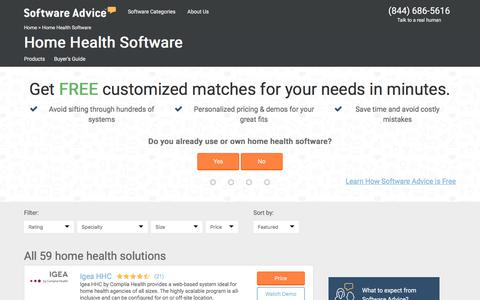 Best Home Health Software - 2017 Reviews, Pricing & Demos