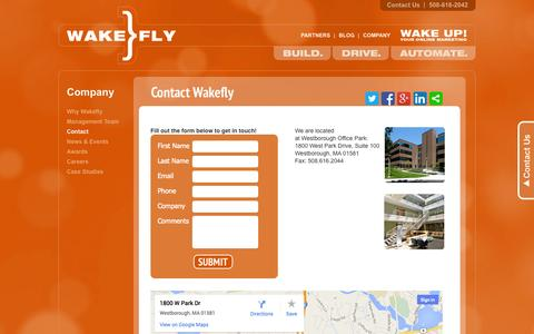 Screenshot of Contact Page wakefly.com - Contact a Boston Based Online Marketing Firm|Wakefly - captured Sept. 23, 2014