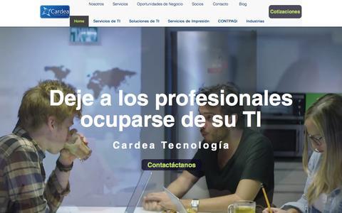 Screenshot of Home Page cardea.mx - Cardea Tecnología - captured Feb. 8, 2016