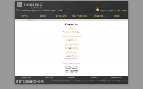 Screenshot of Contact Page nobeltec.com - Contact us | Nobeltec - captured Nov. 30, 2016