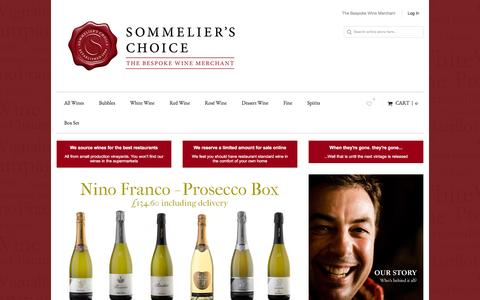 Screenshot of Home Page sommelierschoice.co.uk - Sommeliers Choice | Specialist in sourcing fine wine from small producers - captured Feb. 15, 2016
