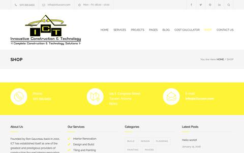 Screenshot of Products Page icttucson.com - Shop – ICTTucson - captured Oct. 12, 2018