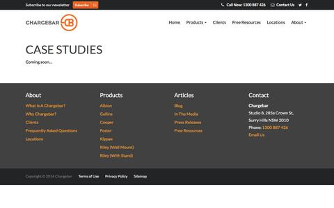 Screenshot of Case Studies Page chargebar.com.au - Case Studies - Chargebar - captured May 16, 2017