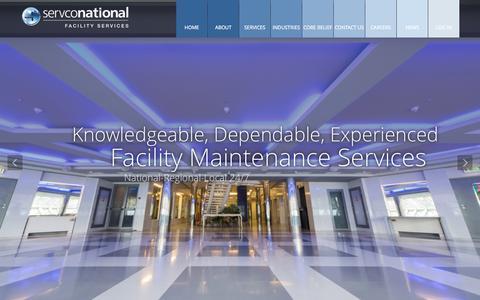 Screenshot of Home Page servcousa.com - Servco National | Facility Services - captured Jan. 26, 2015