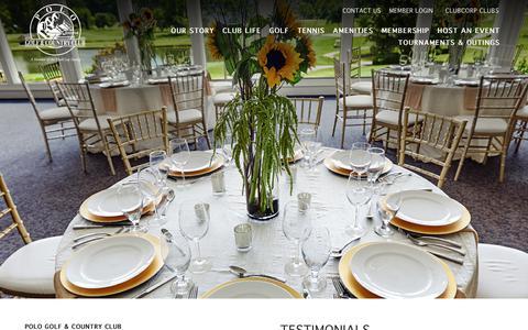 Screenshot of Testimonials Page clubcorp.com - Testimonials   Polo Golf & Country Club - captured Sept. 28, 2018