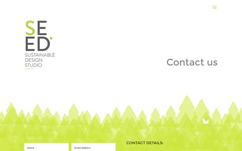 Screenshot of Contact Page creativeseed.co.za - CONTACT | Seed Sustainable Design Studio - captured Nov. 18, 2016