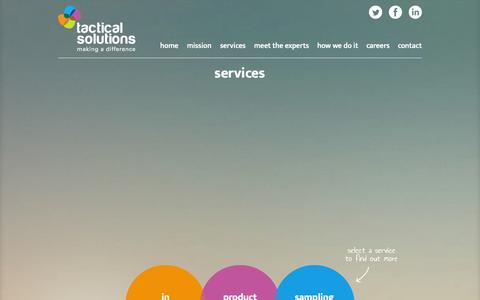 Screenshot of Services Page tactical-solutions.co.uk - Field Sales Services | Field Sales Agency | Tactical Solutions - captured Oct. 9, 2014