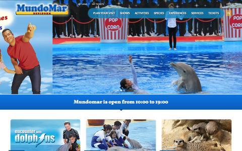 Screenshot of Home Page mundomar.es captured Sept. 19, 2014