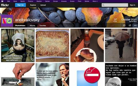 Screenshot of Flickr Page flickr.com - Flickr: arielbrailovsky's Photostream - captured Oct. 23, 2014