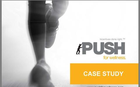 Screenshot of Case Studies Page pushforwellness.com captured Sept. 17, 2014