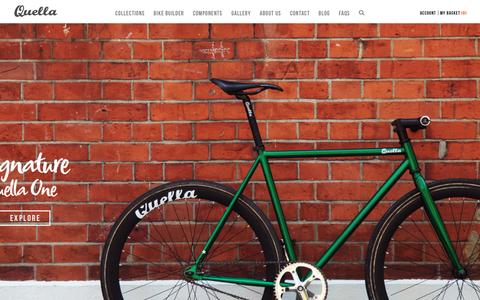 Screenshot of Home Page quellabicycle.com - Quella Fixie, Single Speed, Custom Fixed Gear Bikes - captured Oct. 16, 2015