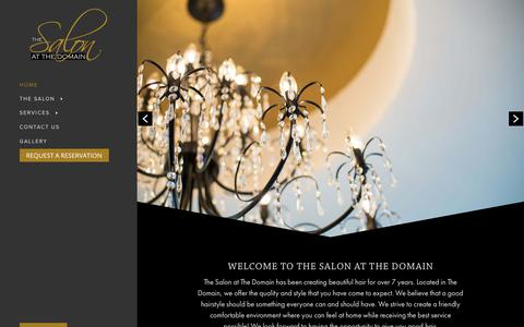 Screenshot of Home Page salonatthedomain.com - The Salon at The Domain - captured Oct. 9, 2018