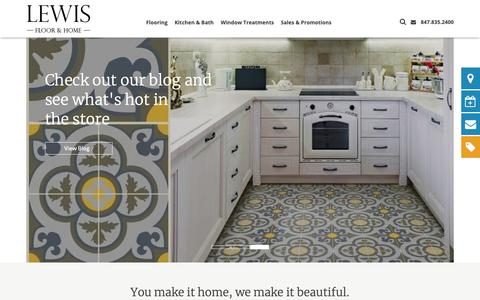 Screenshot of Home Page lewisfloorandhome.com - Lewis Floor and Home | Carpet, Hardwood Flooring, and More - captured Sept. 28, 2018