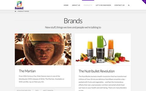 Screenshot of Products Page beaumex.ie - Product Range | Beaumex - captured Nov. 22, 2016