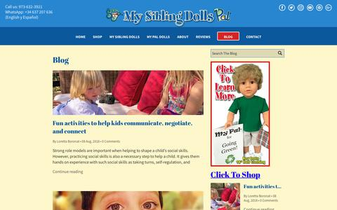 Screenshot of Blog mysiblingdolls.com - Learn more about parenting and the latest issues facing families - captured Sept. 30, 2018