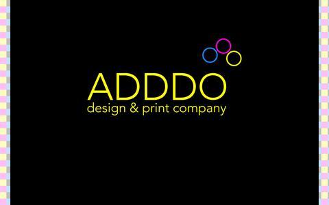 Screenshot of Home Page adddo.eu - ADDDO design & print company - captured Oct. 4, 2014