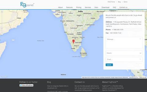 Screenshot of Contact Page fogpanel.com - Contact us - FogPanel - captured Oct. 6, 2014