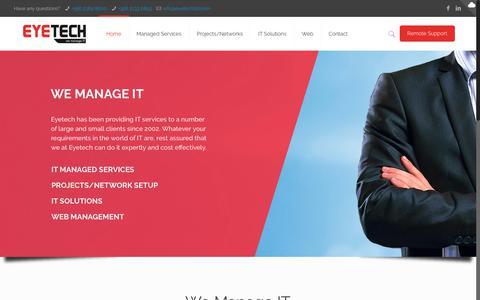 Screenshot of Home Page eyetechltd.com - Home   Eyetech Ltd - captured Sept. 19, 2017