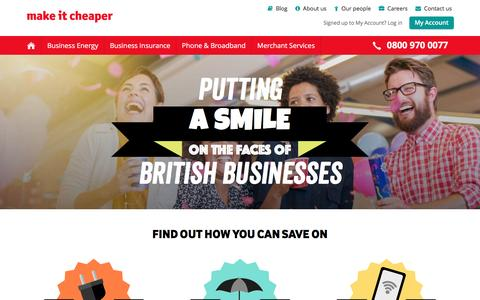 Make It Cheaper - Putting a Smile on the Face of British Businesses
