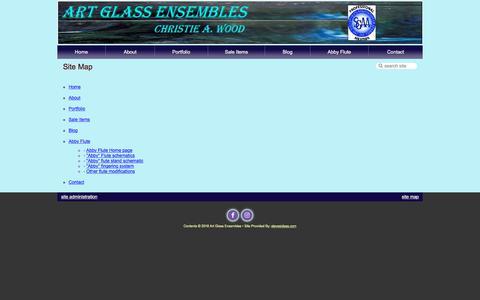 Screenshot of Site Map Page artglassensembles.com - Art Glass Ensembles - Site Map - captured July 30, 2018