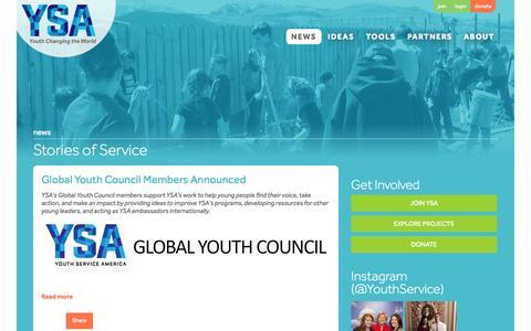 Screenshot of Blog ysa.org - YSA Blog - captured Oct. 4, 2014