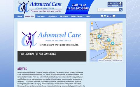Screenshot of About Page advancedcarephysicaltherapy.com - About Us   Advanced Care Physical Therapy - captured Oct. 27, 2014