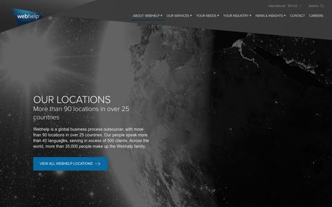 Screenshot of Locations Page webhelp.com - Our Locations - Webhelp - captured Aug. 17, 2016