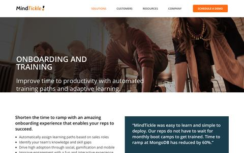 Onboarding and Training | MindTickle