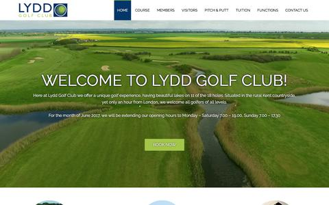 Screenshot of Home Page lyddgolfclub.co.uk - Lydd Golf Club – Romney Marsh, Kent - captured Sept. 20, 2017