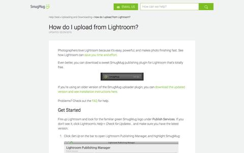 How do I upload from Lightroom? | SmugMug