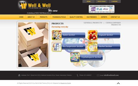 Screenshot of Products Page wellnwell.com - Well & Well Pharma - captured Nov. 3, 2014
