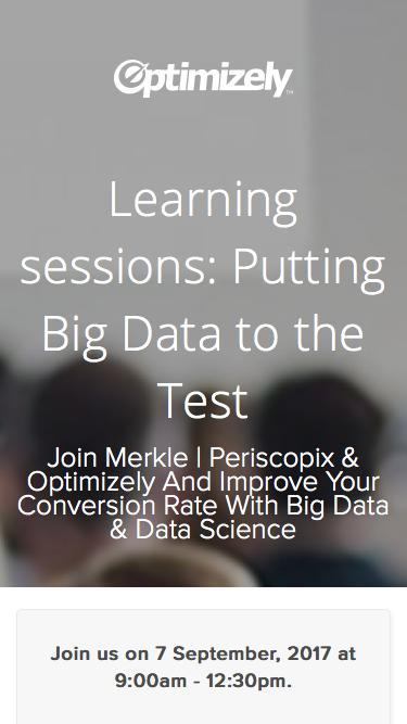 Learning sessions: Putting Big Data to the Test