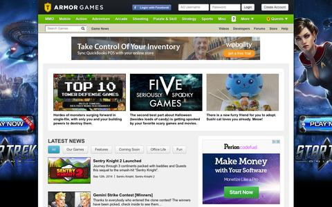 Screenshot of Press Page armorgames.com - Latest flash game and mobile game news. Screenshots, trailers, and everything else gamers love. - captured Sept. 19, 2014