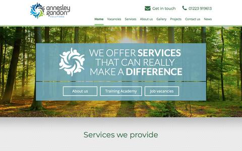 Screenshot of Home Page annesleygandon.co.uk - Annesley Gandon - Consultancy services for the leisure industry - captured July 30, 2018