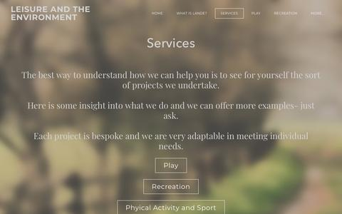 Screenshot of Services Page lande.co.uk - Services - LEISURE AND THE ENVIRONMENT - captured Sept. 24, 2018