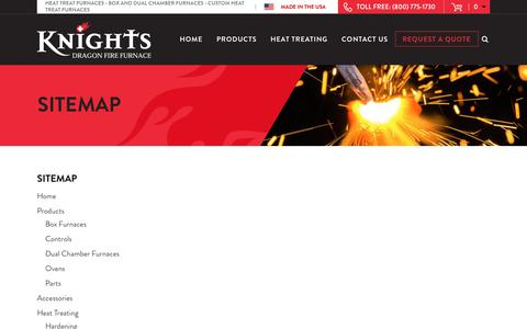 Screenshot of Site Map Page knightsfurnace.com - Sitemap   Knights - captured Oct. 17, 2017