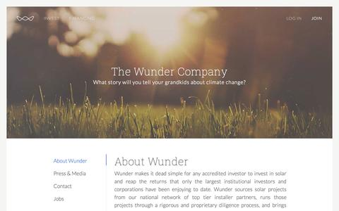 Screenshot of About Page wundercapital.com - Wunder Capital - captured Oct. 26, 2014