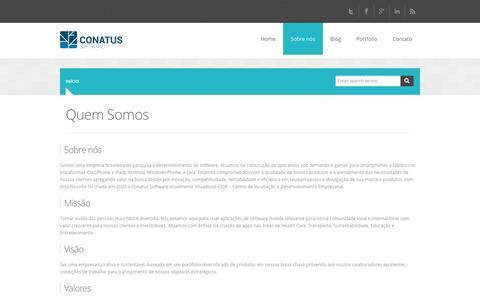 Screenshot of About Page conatussoftware.com.br - Quem Somos | Conatus Software - captured Oct. 2, 2014